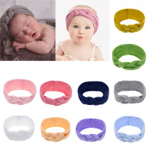 Baby Girl Headbands Kids Rabbit Bow Knot Turban Headband Hair Band Headwrap Children Solid Color Chinese Knot Nylon Hair band