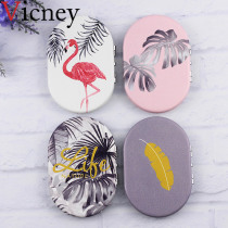 Vicney 2019 New creative mini Oval Makeup Mirror Compact Pocket Mirror Double sided fashion Classic Portable Makeup Mirror