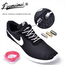 New Arrival 1 Pair No Tie Shoelaces Elastic Locking Round Shoelace Shoe Laces for Shoestrings Running/Jogging/Triathlon