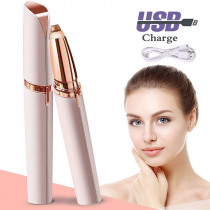 Chargeable mini Lipstick Eyebrow Trimmer Brows Hair Remover Epilator Pen Electric Shaver Painless Eye Brow Epilator USB charging