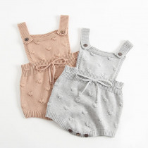 2019 Autumn Winter Newborn Baby Boy Girl Sleeveless Knit Romper Jumpsuit Warm Clothes Vest Overall Knitted Outfits Baby Clothes