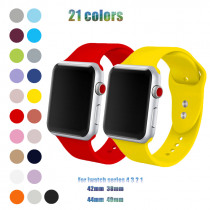 Soft Silicone Replacement Sport Band Bracelet Strap For Apple Watch band 42/38mm compatible for iWatch series 4/3/2/1 44/40mm