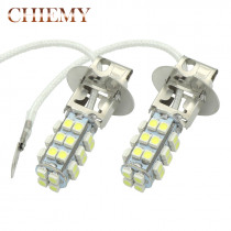 2Pcs H3 LED 28SMD Auto Fog Lamp Daytime Running Light White DC 12V High quality Car Bulb Lamps White 6000K Car Fog Lights
