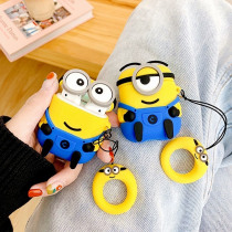 For Airpods Case Cartoon Silicone Little Yellow Man Earphone Cases For Apple Airpods Cute Accessories Wireless Headphones Cover