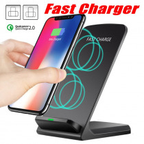 Qi Wireless Charger Stand Fast Charging For iPhone XS Max XR X 8 For Samsung S9 S8 S7  Fast Wireless Charging Stand Pad