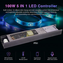 MiLight 100W 5 IN 1 LED Controller Built-in power supply 2.4G RF/WIFI APP/alexa voice control for 24V RGB RGBW RGB+CCT LED strip