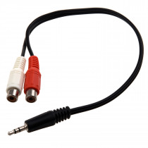 KSOL New Style New 12 Inch 3.5MM Stereo Male To 2 RCA Female Jack Audio Cable Y Adapter