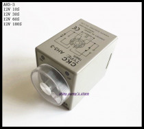 2pcs/Lot AH3-3 DC12V 10S/30S/60S/180S Power On Delay Timer Time Relay 12VDC 0-10/30/60/180 seconds 8 Pins Brand New