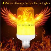 E27 E14 B22 LED Flame Effect Fire Light Bulb SMD2835 Flickering Emulation 1&4 Modes LED Flame Lamp E14 1200K~1400K AC85V~265V