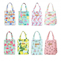 Cute Waterproof Oxford Lunch Bag Portable Insulated Thermal Cooler Lunch Bag For Girls Student Lunch Box Picnic Case Storage Bag