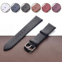 Men Genuine Cow Watch Band Leather Ultra-thin For Women Watch Strap Calfskin Steel Pin Buckle Watchbands16mm 18mm 20mm 22mm