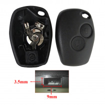2 Buttons Car Key Shell Remote Fob Cover Case For Renault Dacia Modus Clio 3 Twingo Kangoo 2