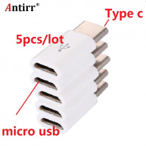 5pcs/lot USB 3.1 Type C Male to Micro USB Female Adapter Type-C Converter Connector USB-C black and white