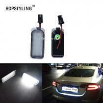 1 pair Error Free LED license plate light For Jaguar XF X250 XJ X351 auto rear number plate lamps car styling replacement