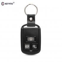 KEYYOU For Hyundai Sonata Accent Elantra 3 Button Replacement Remote Key Shell Case Without Battery Hold 2002 2003 2004 2005