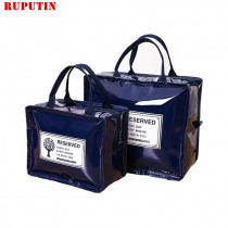 RUPUTIN PU Lunch Package Ice Pack Cooler Lunch Box Insulation Picnic Bag Thermo Thermal Lunch Bag For Women Kids Lunchbags Bags