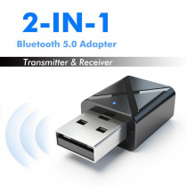 Bluetooth 5.0 Audio 2 In 1 Receiver Transmitter USB AUX 3.5mm Stereo Muisc Aduio for KN320 Bluetooth Wireless Adapter For TV Car