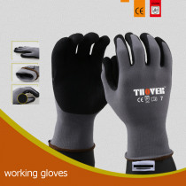 6 Pairs Black Frosted Working Gloves Site Logistics Machinery Repair Cut-proof Wear resistant Garden 15 Stitches Safety Gloves