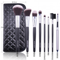 Makeup Brushes with Case ENZO KEN 8Pcs Synthetic Foundation Powder Blending Concealers Makeup Brushes Set Professional