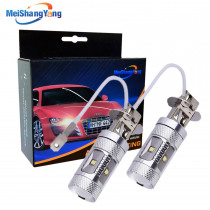 2pcs H3 Led Bulb 30W Cree Chip car light 6000K White High Power Car Fog Light Running Light Bulb auto parking 12V