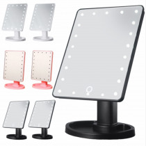 Makeup Mirror Lights Touch Screen Makeup Mirror Customized 1X 10X Table Led Mirror Light USB Cable Batteries Use 16/22 Lights
