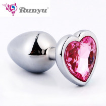 S/M/L Intimate Metal Anal Plug With Crystal Jewelry Smooth Butt Plug No Vibrator Anal Beads Tube Sex Toys for Men/Women
