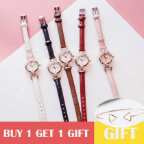 The new listing women watch female girlfriends student Korean version of the simple thin band small cute dial girls gift reloj