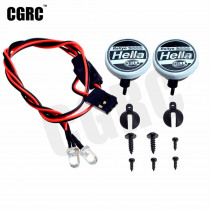 2pcs Led Spotlight Roof Light Lampshade For 1/10 RC Crawler Car TRX4 Defender Bronco RC4WD D90 D110 Axial Scx10 90046