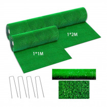 New 2 Sizes Artificial Grass Lawn Synthetic Drainage Green Grass Simulation Plants Artificial Turf Set (turf + Steel Rivet)