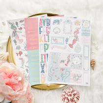 Lovely Mermaid Self- adhesive Paper Sticker for Scrapbooking Happy Planner/Card Making/Journaling Project