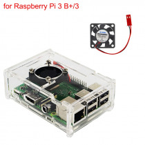 Raspberry Pi 3 Model B+ Acrylic Case Transprent Box + CPU Cooling Fan compatible for Raspberry Pi 3 Model B / B+