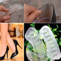 1Pair Rearfoot Invisible Silicone Anti-Slip High Heel Cushions Heel Back Liner Shoes Silicone Insoles Shoe Cushion
