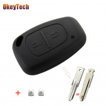 OkeyTech 2 Buttons Car Key Shell For Renault Traffic Master Vivaro Movano Kangoo Auto Accessories Key Cover Case Fob 2 Switches