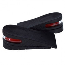 1Pair Men Women PVC 5cm Air Cushion Heel Inserts Higher Shoes Pads Layer Taller Adjustable Height Increase Insoles Lift