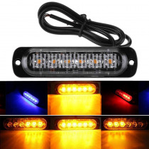 LED Flash Lights Motorcycle Car Rear Tail Reverse Truck Brake Stop Lamp Warning Red Blue DC12V