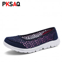 Women Flats Shoes 2019 Comfortable Flat Air Mesh Spring Summer Shoes Female Zapatos de mujer Slip On Shoes For Women