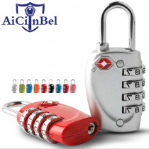 High Quality Resettable 4 Digit AiCinBel TSA Locks Smart Combination Lock For Travel Luggage Suitcase Code Padlock  Customs lock