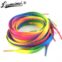 1 PAIR 80cm to 110cm Rainbow Multi-Colors Flat Sports Shoe Laces Shoelaces Strings Strap for Sneakers Unisex rainbow shoelace