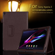Case for 10.1 inch Sony Xperia Table Z, Solid Filp Litchi Leather Protective Cover for Sony Xperia Z1 Tablet Accessories