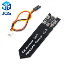Capacitive Soil Moisture Sensor Module Not Easy to Corrode Wide Voltage Wire 3.3~5.5V Corrosion Resistant W/ Gravity for Arduino