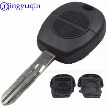 jingyuqin for Nissan Key Shell 2 Button Car Key Shell Replacement Cover Uncut A33 Blade for Nissan Micra Almera Primera X-Trail