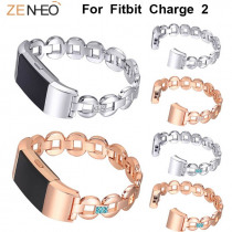 Women's bracelet watch strap For Fitbit Charge 2 Metal Straps watchband Rhinestone for Fitbit Charge 2 wristband Drop shipping