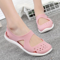 Women Sandals 2019 Summer New Candy Color Women Shoes Soft Stappy Beach Valentine Rainbow Jelly Shoes Woman Flats Sandals