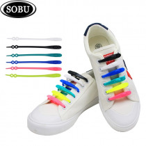 14pcs/set No TIE Lacing system Silicone Shoelace Elastic Shoelaces For Adults/Kids Sports Shoe No Tie Shoes Accessories G112