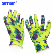 6 Pairs Gardening Gloves Women Pretty Flower Printed Housework Cleaning Breathable Ladies Nitrile Gloves Fast Free delivery