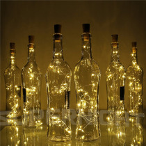 String Light with Bottle Stopper 2m 20leds Cork Shaped Wine Bottle Lights Decoration for Alloween Christmas Holiday Party