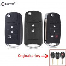 KEYYOU 2/3/4 Buttons For Toyota Prius RAV4 Camry Camry Remote Control modified Folding Car Key Shell Cover Fob Case
