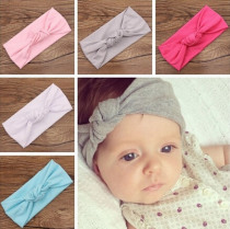 Baby Tie Knot Headband Knitted Cotton Children Girls elastic hair bands Turban bows for girl Headbands Summer bandeau bebe