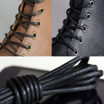 1Pair High Quality 75-85cm Fashion Casual Leather Shoelace Multi-Color Cotton Waxed Round Shoe Laces