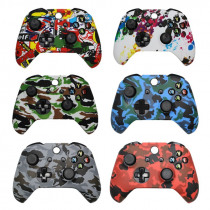 For Xbox One Slim Joystick Soft Silicone Protective Controller Cover for XBox One X S Camouflage Cover Grips Caps